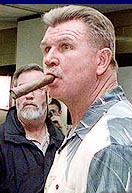 Mike Ditka with Cigar