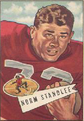 Norm Standlee with 49ers