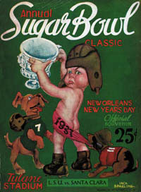 1937 Sugar Bowl Program