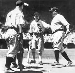 Babe Ruth after HR in 1933 All-Star Game