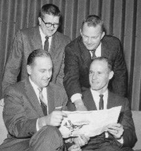 Bedford Wynne with other Cowboys Officials