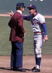 Manager Billy Martin, Texas Rangers