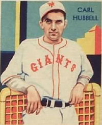 P Carl Hubbell, New York Giants
