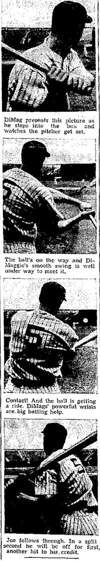 DiMaggio's Swing From Behind