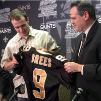 Drew Brees and Mickey Loomis