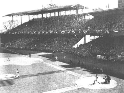A packed Griffith Stadium