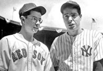 Dominick and Joe DiMaggio at Yankee Stadium