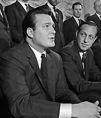 John Mecom with Pete Rozelle