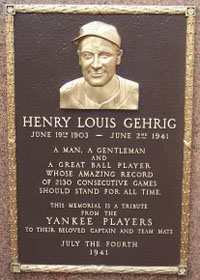 Lou Gehrig Monument