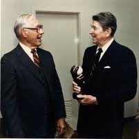 Bob Feller and President Ronald Reagan