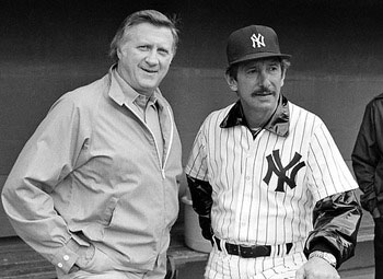 George Steinbrenner and Billy Martin 1985