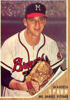 Braves P Warren Spahn 1962
