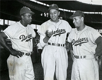 Jackie Robinson, Don Newcombe, Roy Campanella