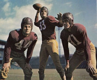 Andy Farkas, Sammy Baugh, Dick Todd, Redskins
