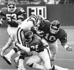 Brad Van Pelt with NY Giants